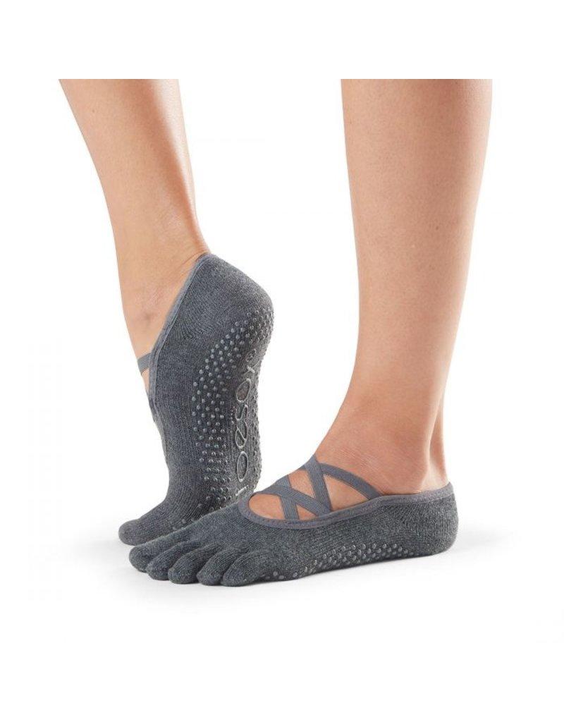 ToeSox ToeSox - Elle - Full Toe Grip - Charcoal Grey