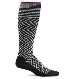 Sockwell Sockwell - Moderate Lifestyle Compression - Chevron - SW7W - Black 2 - Women's