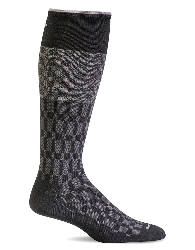 Sockwell Sockwell - Moderate Lifestyle Compression - Checkmate - SW37M - Black - Men's