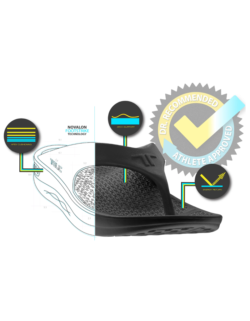 Telic USA Telic - Recharge Slide - Unisex - Midnight Black