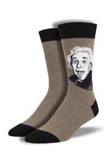 Socksmith Socksmith - Einstein Portrait - Brown Heather - MNC1933 - Crew - Men's