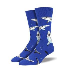 Socksmith Socksmith - Shark Chums - Blue - MNC1698 - Crew - Men's