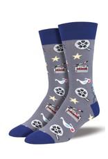 Socksmith Socksmith - Movie Night - Gray - MNC1691 - Crew - Men's