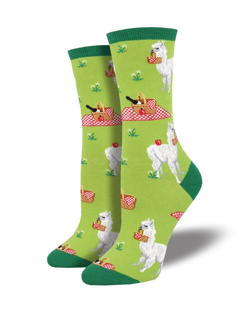 Socksmith Socksmith - Alpaca Lunch - Green - WNC1768 - Crew - Women's