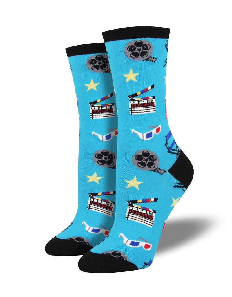 Socksmith Socksmith - Movie Night - Blue - WNC1750 - Crew - Women's