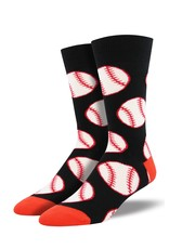 Socksmith Socksmith - Out to the Ballgame - Black - MNC1538 - Crew - Men's