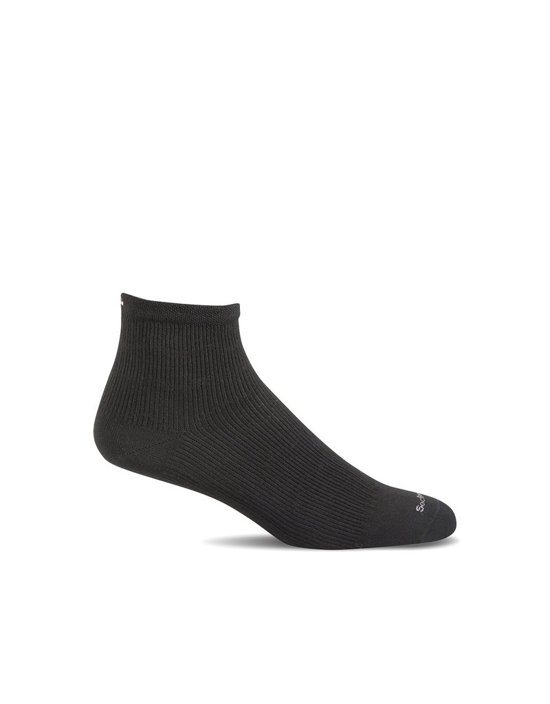 Sockwell Sockwell - Relief Solutions - Plantar Ease Quarter II - SW35M - Black Solid - Men's