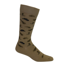 Brown Dog Hosiery Brown Dog Hosiery - Deep Country - Khaki - Men's - OSFM