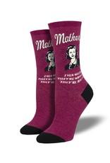 Socksmith Socksmith - Mothers Know Best - Wine Heather - WNC1948 - Crew - Women's