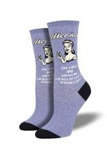 Socksmith Socksmith - Cause and Solution - Denim Heather - WNC1952 - Crew - Women's