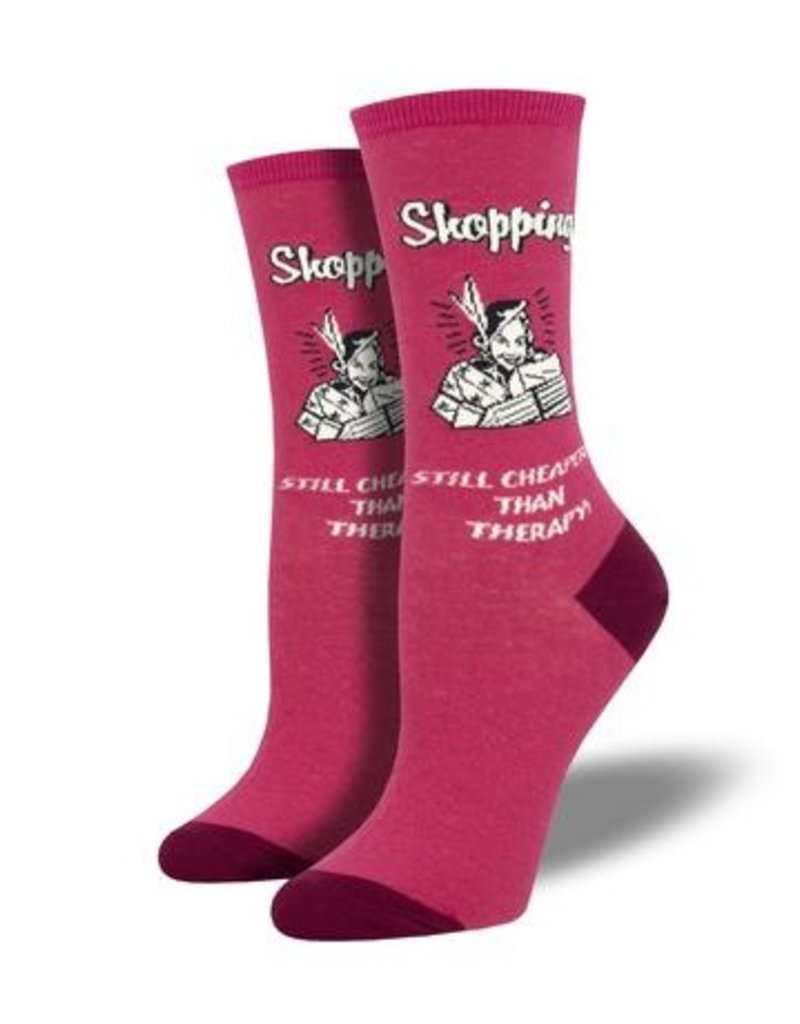 Socksmith Socksmith - Retail Therapy - Pink - WNC1951 - Crew - Women'sKSMITH - Retail Therapy - Pink - WNC1951 - Crew - Women's