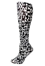 Foot Traffic Foot Traffic - Black & White Squares - 330TR - Knee High - Women's