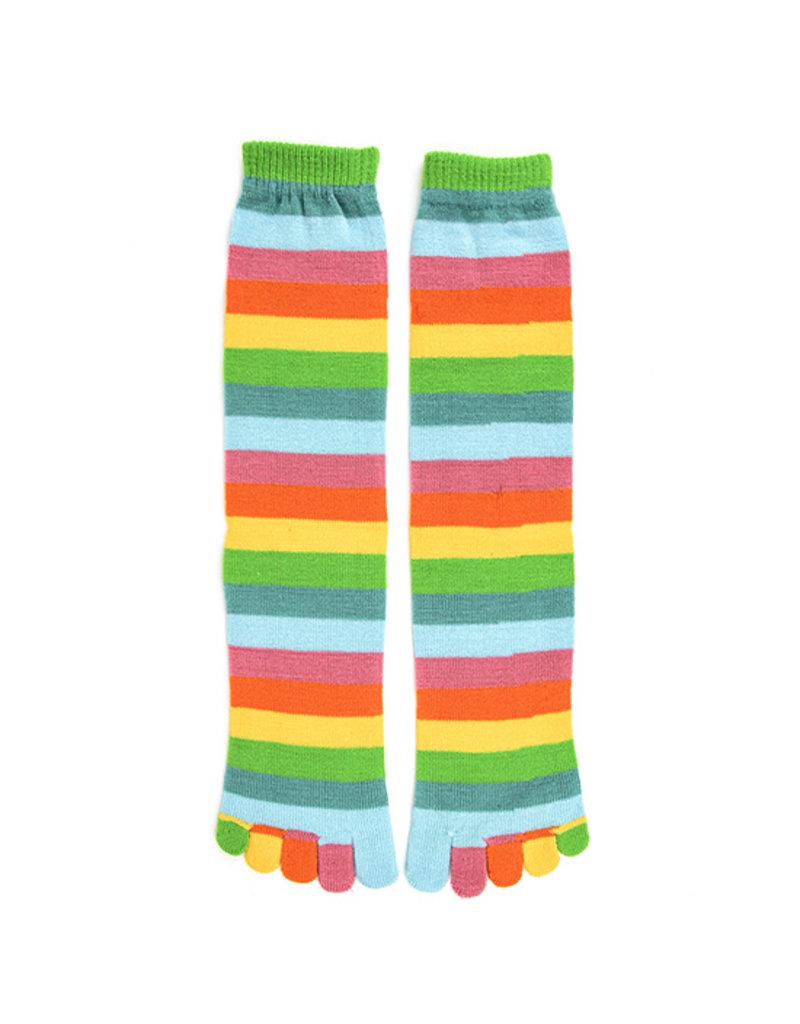 Foot Traffic Foot Traffic - Citrus Stripe Toe Socks - FT230 - Knee High - Women's