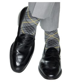 Dapper Classics Dapper Classics - Charcoal with Gray and Yolk Tartan - Merino Wool - OTC