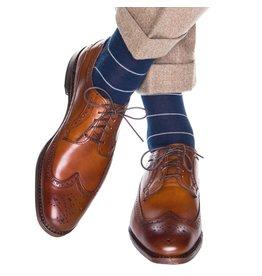 Dapper Classics Dapper Classics - Dress Navy with Gray Narrow Stripe - Merino Wool - OTC