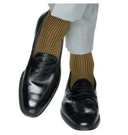 Dapper Classics Dapper Classics - Black and Gold Houndstooth - Cotton - OTC