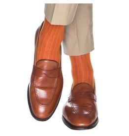 Dapper Classics Dapper Classics - Burnt Orange Solid Ribbed - Merino Wool - OTC