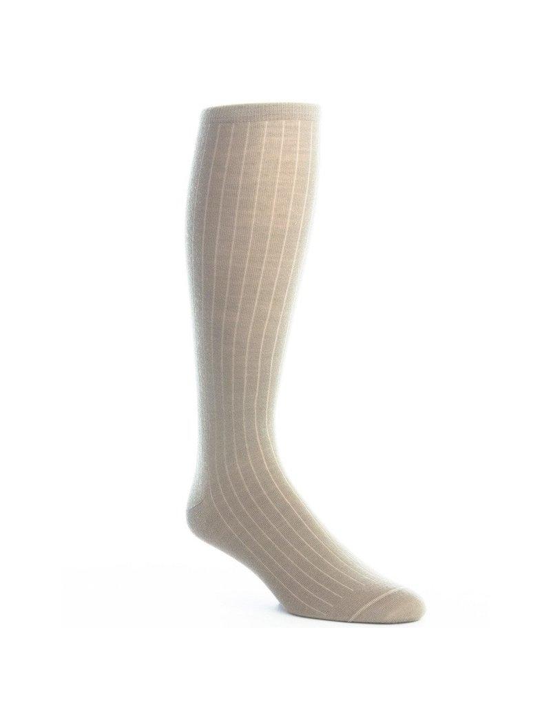 Dapper Classics Dapper Classics - Taupe Solid Ribbed - Merino Wool - OTC