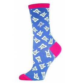 Socksmith Socksmith - Happy Teeth - Periwinkle - WNC488 - Crew - Women's