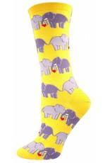 Socksmith Socksmith - Elephant Love - Buttercup - SSW1302 - Crew - Women's