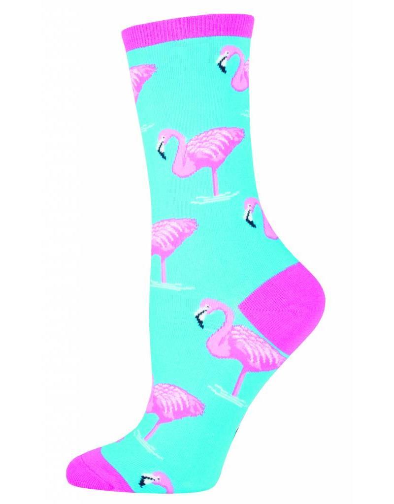 Socksmith Socksmith - Flamingo - Sky Blue - WNC420 - Crew - Women's