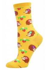 Socksmith Socksmith - Hedgehogs - Gold - WNC340 - Crew - Women's