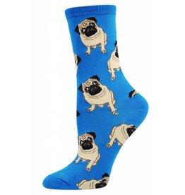 Socksmith Socksmith - Pugs - Blue - WNC338 - Crew - Women's