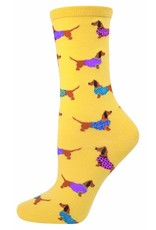 Socksmith Socksmith - Haute Dog - Mimosa Yellow - SSW1275 - Crew - Women's