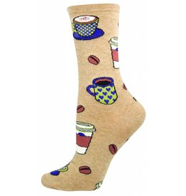 Socksmith Socksmith - Love You a Latte - Hemp - SSW1380 - Crew - Women's