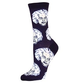 Socksmith Socksmith - Einstein - Black/White - SSW1206 - Crew - Women's