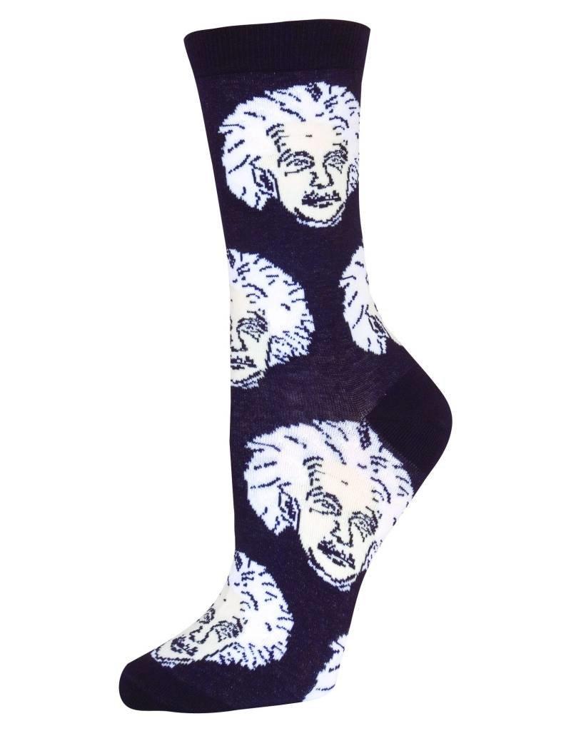 Socksmith Socksmith - Einstein - Black/White - SSW1206 - Crew - Women's