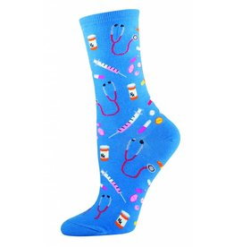 Socksmith Socksmith - Meds - Cornflower Blue - WNC394 - Crew - Women's