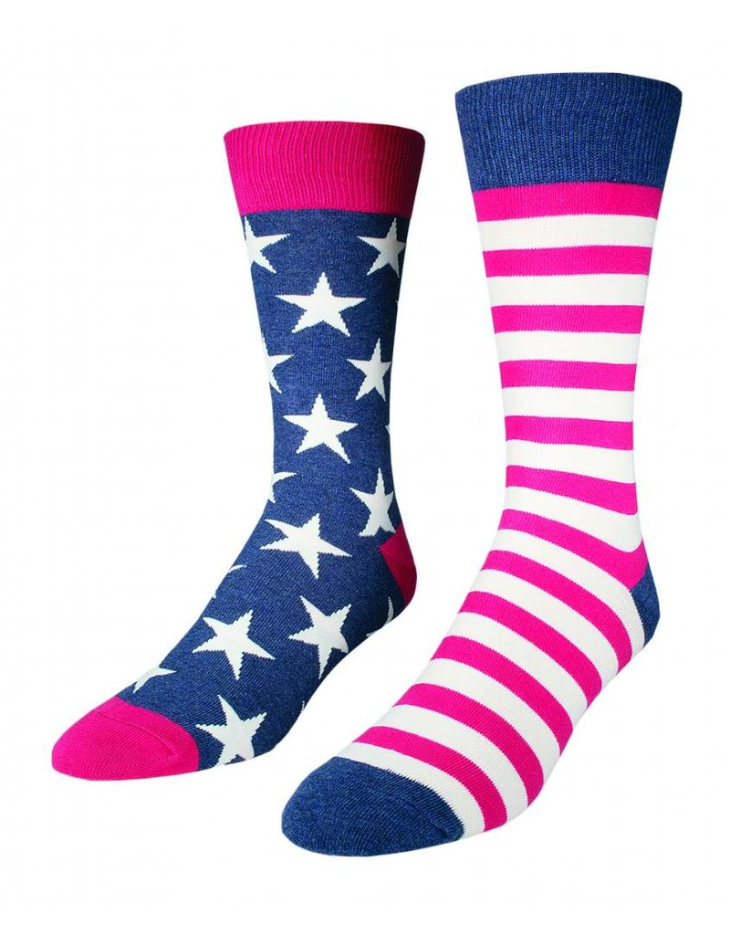Socksmith Socksmith - Flag - Vintage Blue - MNC337 - Crew - Men's