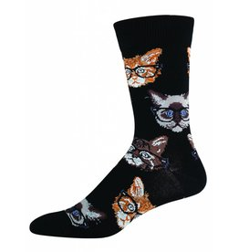 Socksmith Socksmith - Kittenster - Black - MNC258 - Crew - Men's
