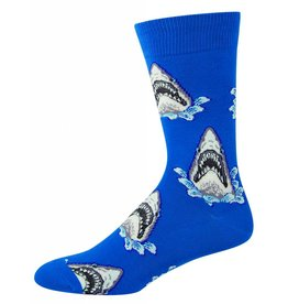 Socksmith Socksmith - Shark Attack - Blue - MNC361 - Crew - Men's