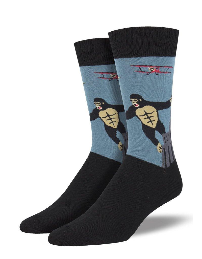 Socksmith Socksmith - King Kong - Blue - MNC1847 - Crew - Men's