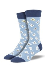 Socksmith Socksmith - Happy Teeth - Blue - MNC1844 - Crew - Men's