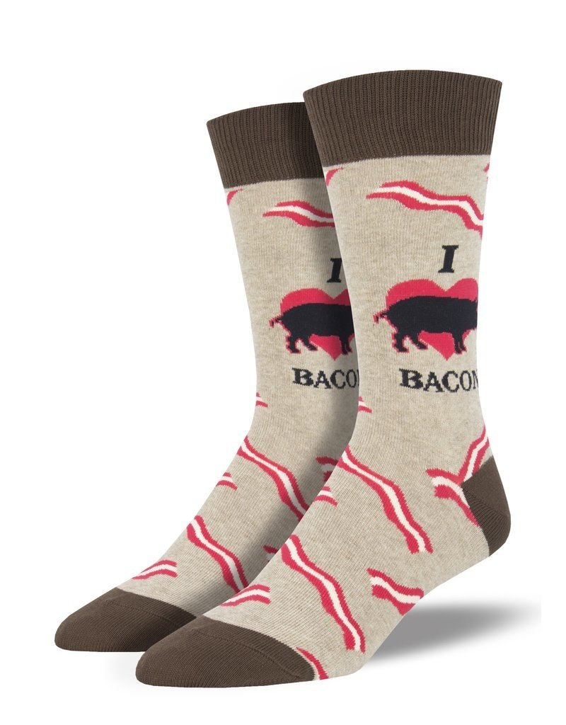 Socksmith Socksmith - Mmm Bacon - Hemp Heather - MNC1850 - Crew - Men's
