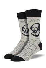 Socksmith Socksmith - Shakespeare Sonnet - Gray Heather - MNC1859 - Crew - Men's