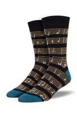 Socksmith Socksmith - Bamboo Sheet Music - Black - MBN1926 - Crew - Men's