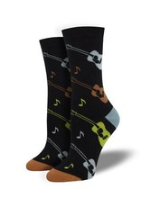 Socksmith Socksmith - Bamboo Listen To The Music - Black - WBN1908 - Crew - Women's