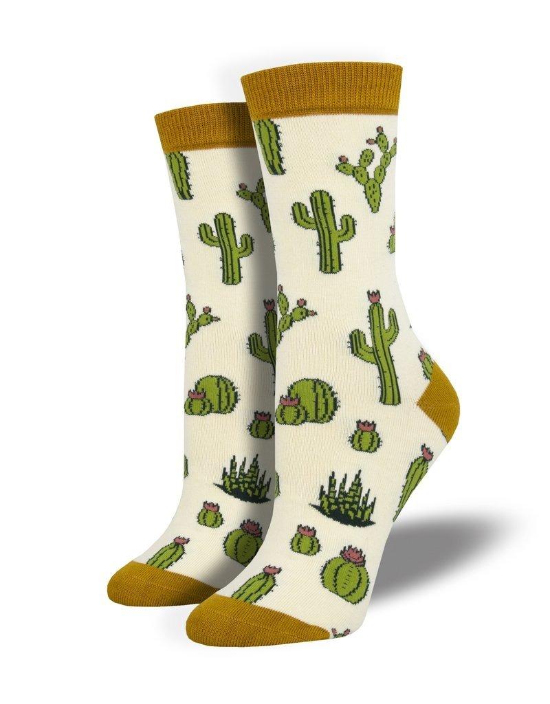 Socksmith Socksmith - Bamboo King Cactus - Ivory - WBN1911 - Crew - Women's