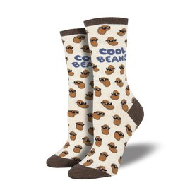 Socksmith Socksmith - Cool Beans - Ivory Heather - WNC1870 - Crew - Women's