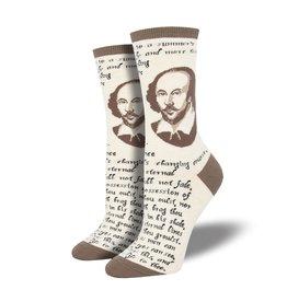Socksmith Socksmith - Shakespeare Sonnet - Ivory Heather - WNC1894 - Crew - Women's
