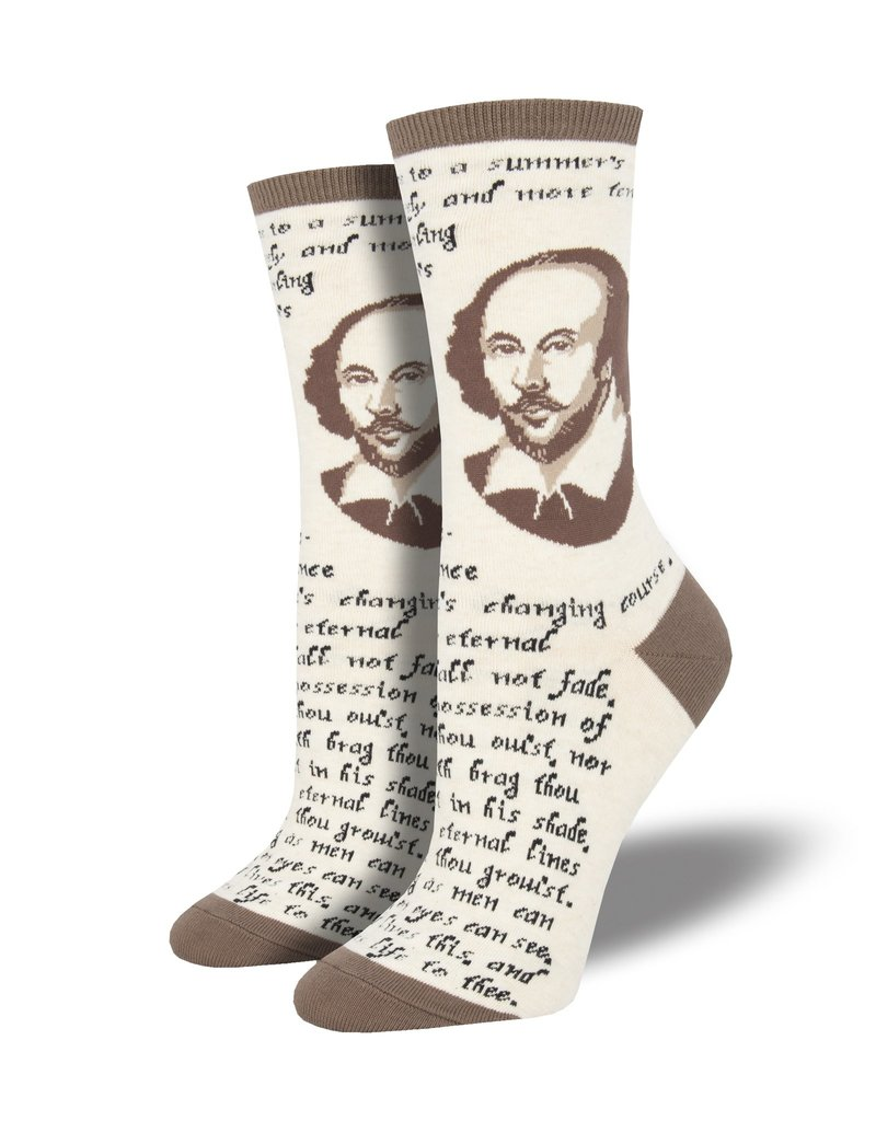 Socksmith Socksmith - Shakespeare Sonnet - Ivory Heather - WNC1894 - Crew - Women's
