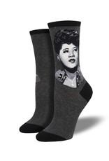 Socksmith Socksmith - Ella Portrait - Charcoal - WNC1936 - Crew - Women's