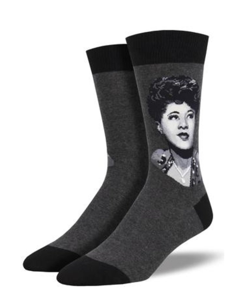 Socksmith Socksmith - Ella Portrait - Charcoal Heather - MNC1930 - Crew - Men's