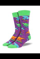 Socksmith Socksmith - Skate Or Dinosaur - Purple - MNC1695 - Crew - Men's