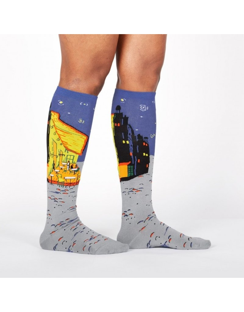 Sock It to Me Sock It to Me - Café Terrace at Night - F0497 - Knee High - Unisex