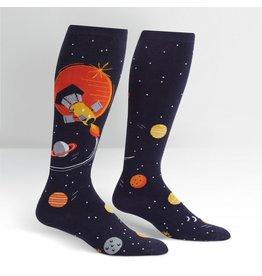 Sock It to Me Sock It to Me - Fly Me To The Sun - Wide Calf - S0087 - Knee High - Unisex